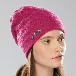 Alexsis Sparkle Hat in fuchsia