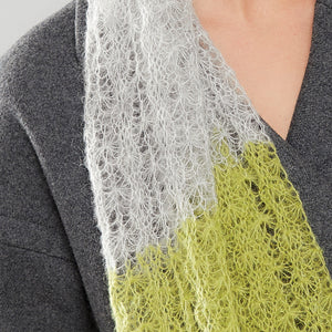 Spider Web Luxe Scarf citrus/dove close up