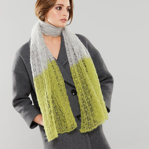 Spider Web Luxe Scarf in citrus/dove