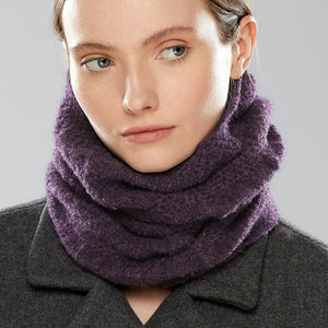 Nakiska Loop Scarf worn as a collar