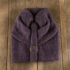 Batteaux Buckle Toque in eggplant