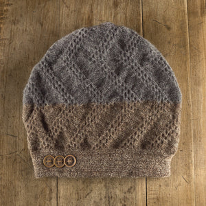 Clendenan Duo Toque in walnut/flannel