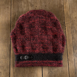 Chatsworth Toque in jet cranberry/jet