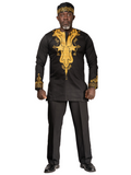 Black & Gold Dashiki Shirt