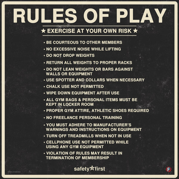 Gym rules anotherhackedlife
