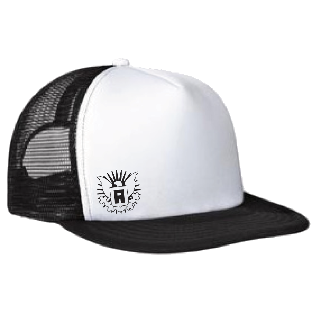 Mr. America Mesh Back Flat Bill Trucker Hat