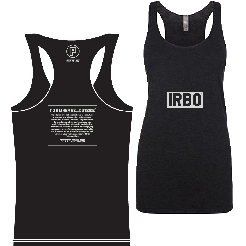 I'd Rather Be Outside Women's Tri-Blend Razor Tank