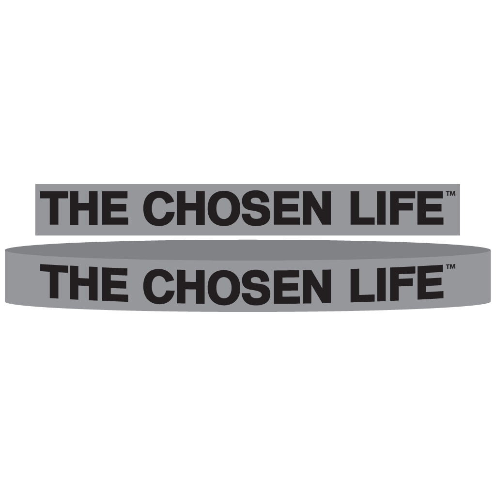 The Chosen Life Silicone Wrist Bands