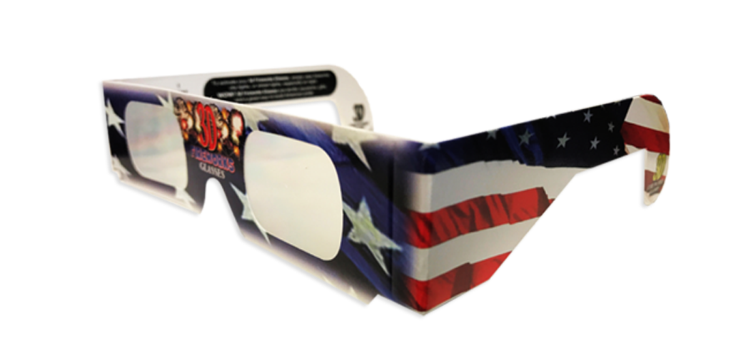Patriotic Fireworks Glasses