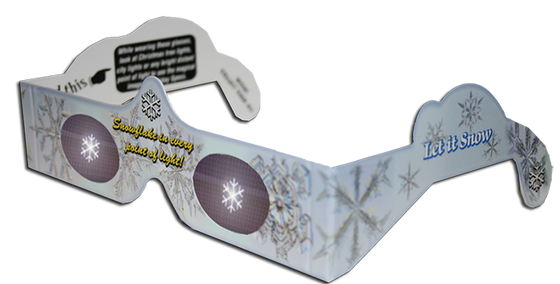 Snowflake 3D Glasses