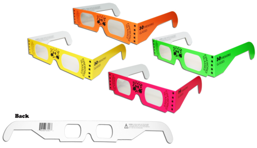 Assorted Neon Printed Glasses