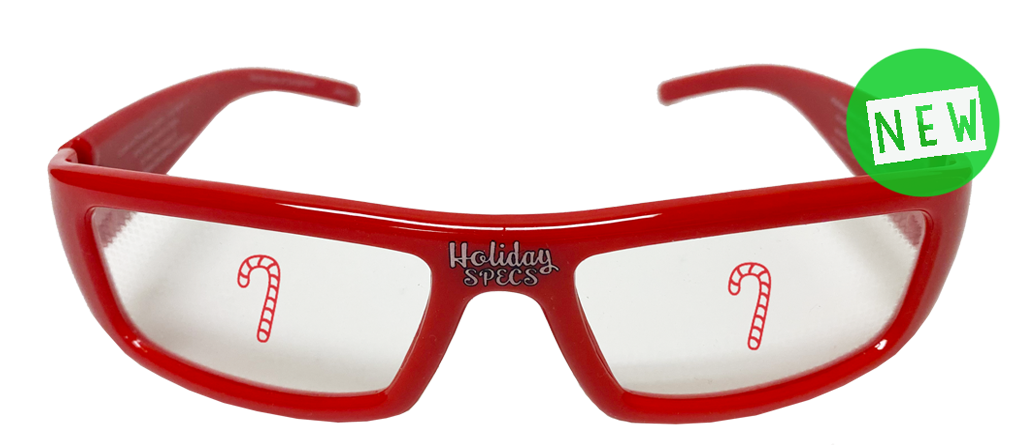 Holiday Specs Plastic Candy Cane