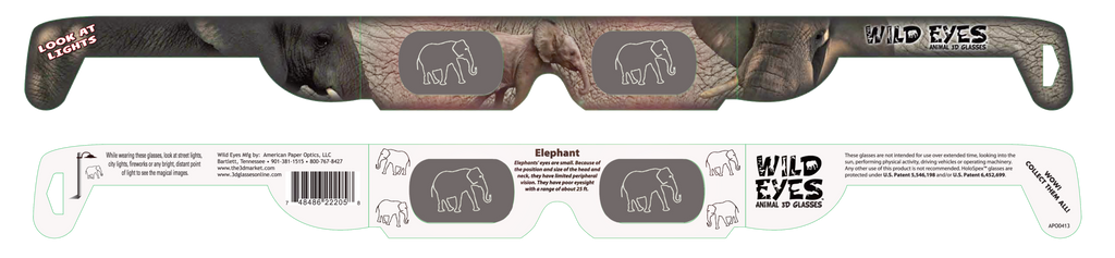 Elephant Wild Eyes Glasses