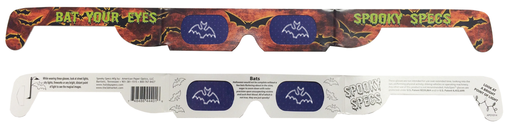Halloween Bat 3D Glasses