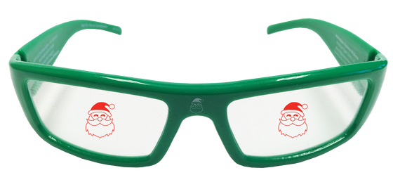Holiday Specs Plastic Santa