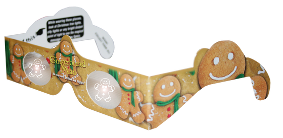 Gingerbread Man 3D Glasses