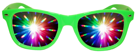 Neon Green Plastic Diffraction
