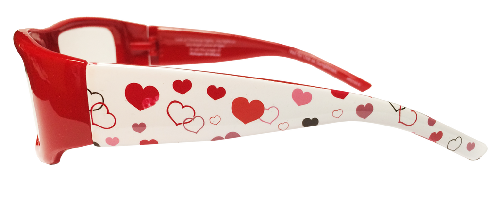 Happy Eyes Plastic Heart Glasses