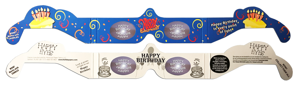 Happy Birthday 3D Glasses