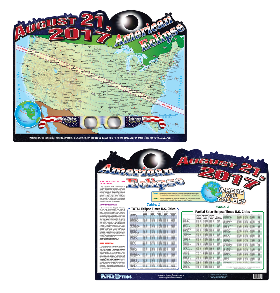 American Eclipse Map (Poster)
