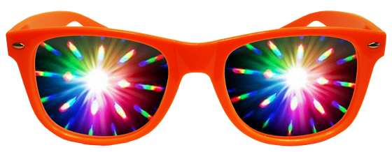 Bright Orange Plastic Diffraction