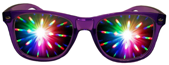 Perfect Purple Plastic Diffraction