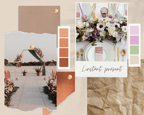 moodboard mariage instant present
