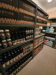 Stock room at Twisted Hops Craft beer shop