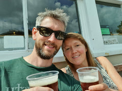 Sarah Giles and Lawrence Cooke - co-founders of Twisted Hops Craft Beer Shop