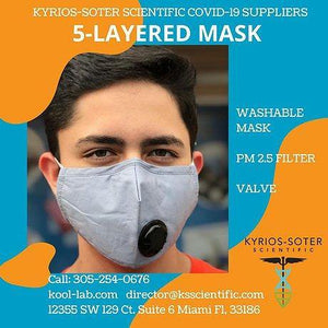 5 Layers Mask includes KN95 filter and valve. Adjustable nose it keeps closed and safe