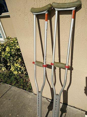 Aluminum Walking Crutches - Used
