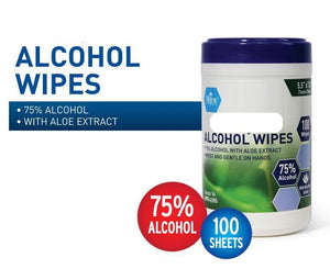 Alcohol Wipes 75% Alcohol with Aloe Vera
