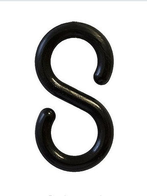 "S Hook - 2"" plastic Black and Yellow"