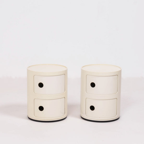 Componibili Ivory Storage Units, by Anna Castelli Ferrieri for Kartell, Set of 2