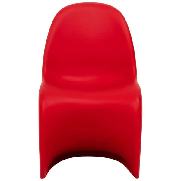 Mid Century Modern Red Panton Chairs by Verner Panton for Vitra