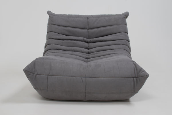 Midcentury Togo Grey Armchair by Michel Ducaroy for Ligne Roset