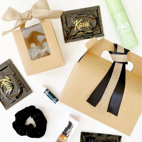 Gift Boxes. Not just for the holidays.  An awesome gift for any occasion! Available in both mini & full size, Styled Gift Boxes are perfect for client thank yous, teacher gifts, birthdays, and yes, the holiday season too! Order online for pick up.