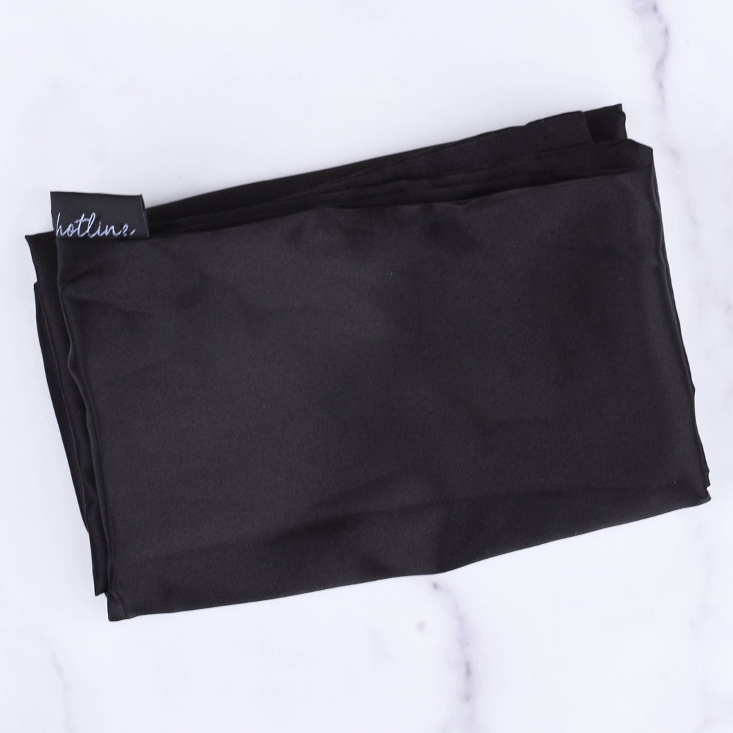 Satin Pillowcase (Black)