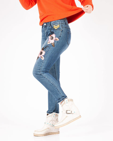 Jeans skinny fit con patch - Forum boutiques