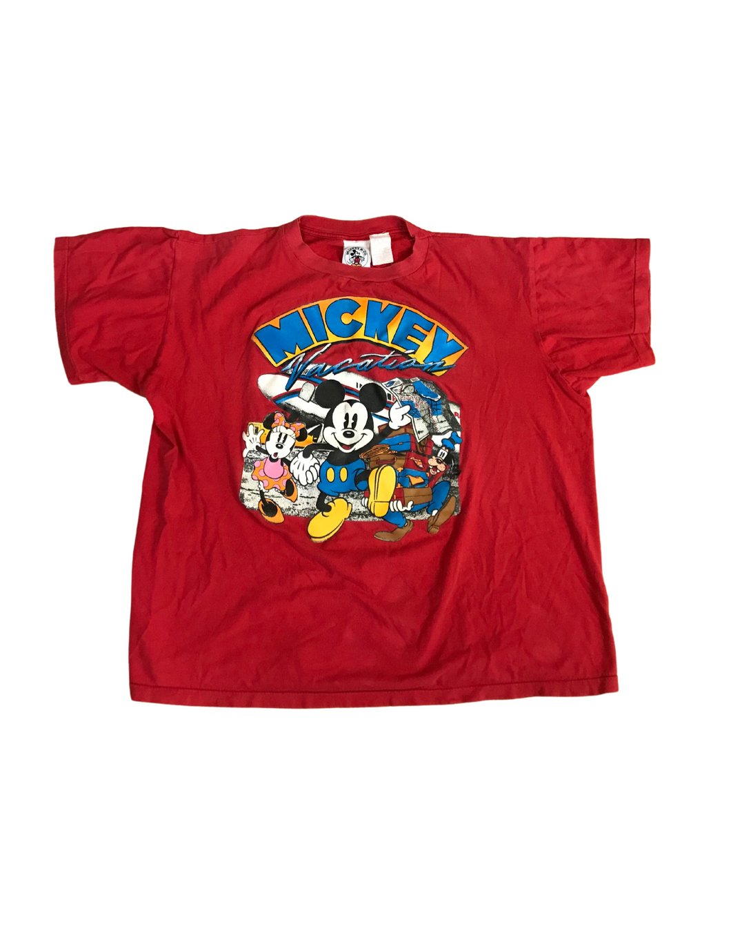 Vintage Red Mickey Mouse T shirt size L-XL 1990