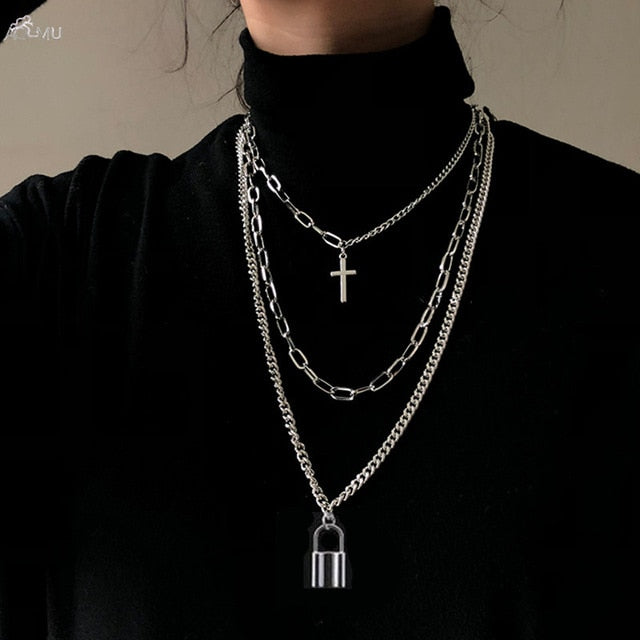 Hip Hop Long Chain Necklace