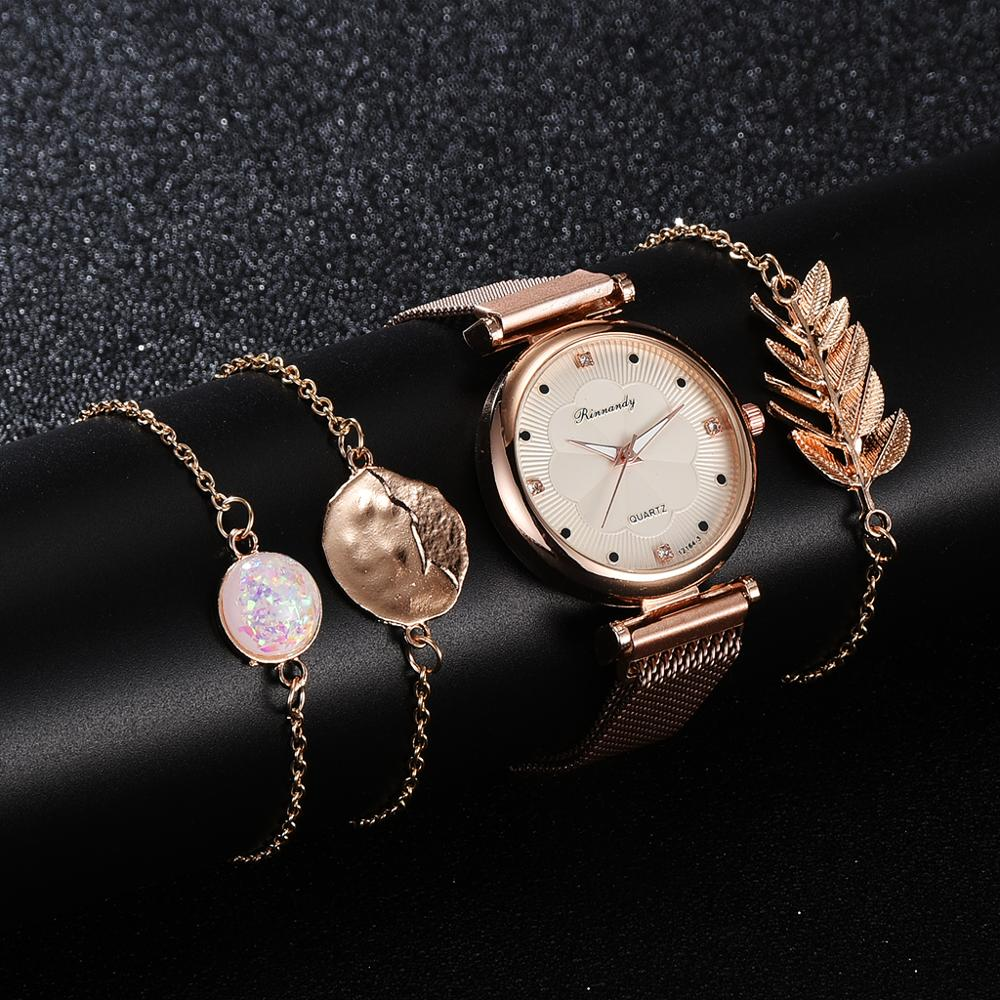 Gold Watch Bracelet
