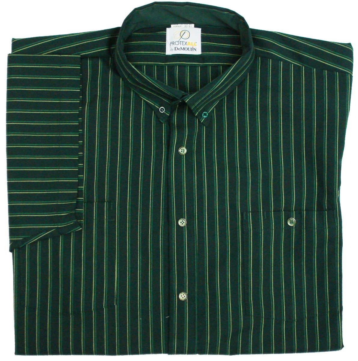 Green/Kelly/Yellow Stripe Work Shirt