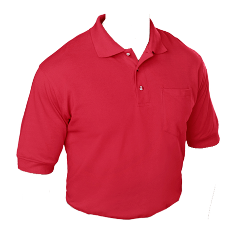 Red Cotton Sport Shirt
