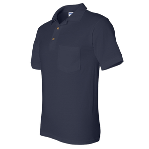 Navy Sport Polo W/Pocket