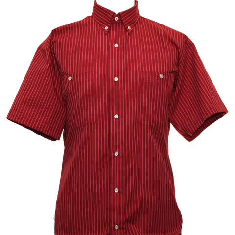 Red Pinstripe Work Shirt