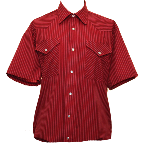 Red Pinstripe Western Shirt