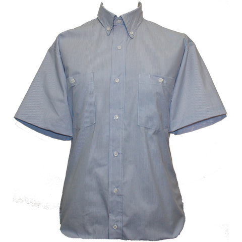 White/Blue Stripe Work Shirt