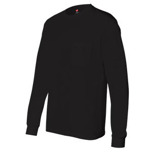 Black Long Sleeve T-Shirt w/Pocket
