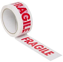 "Load image into Gallery viewer, ""Fragile"" Printed Tape 50mm x 66m (6 Pack)"